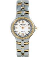 Buy Krug Baumen Regatta 4 Diamond White Dial Two Tone Strap online