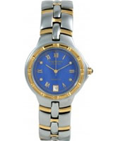 Buy Krug Baumen Regatta 4 Diamond Blue Dial Two Tone Strap online