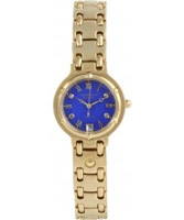 Buy Krug Baumen Charleston 4 Diamond Blue Dial Gold Strap online