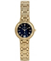 Buy Krug Baumen Charleston 4 Diamond Black Dial Gold Strap online