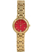 Buy Krug Baumen Charleston 4 Diamond Red Dial Gold Strap online