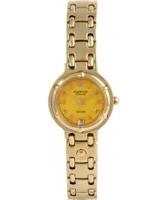 Buy Krug Baumen Charleston 4 Diamond Yellow Dial Gold Strap online