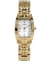 Buy Krug Baumen Tuxedo Gold 4 Diamond White Dial Gold Strap online