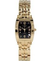 Buy Krug Baumen Tuxedo Gold 4 Diamond Black Dial Gold Strap online