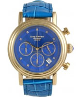 Buy Krug Baumen Enterprise Diamond Blue-Gold Dial online
