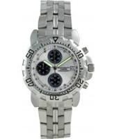 Buy Krug Baumen Mens Sportsmaster Diamond Silver Dial online