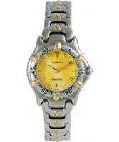 Buy Krug Baumen Ladies Oceanmaster Two Tone Yellow Dial online