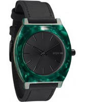 Buy Nixon The Time Teller Acetate Leather Emerald Watch online