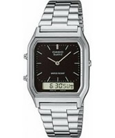 Buy Casio Mens Steel Dual Display Watch online
