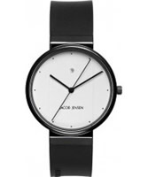 Buy Jacob Jensen Mens Black White Watch online