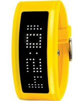 Buy Black Dice Guru Led Black Yellow Watch online