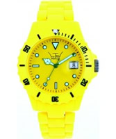 Buy LTD Watch Unisex Plastic 3 Hand Watch With Yellow Dial And Yellow Strap online