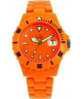 Buy LTD Watch Unisex Plastic 3 Hand Watch With Orange Dial And Strap online