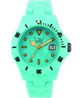 Buy LTD Watch Unisex Plastic 3 Hand Watch With Turquoise Dial And Strap online