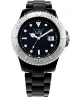 Buy LTD Watch Unisex Plastic 3 Hand Watch With Black Dial And Black Strap online
