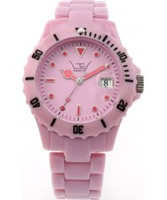 Buy LTD Watch Unisex Plastic 3 Hand Watch With Powder Pink Dial And Strap online