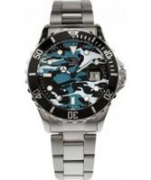 Buy LTD Watch Mens Steel Khaki Blue Style Watch online