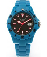Buy LTD Watch Unisex Black Dial Blue Strap Watch online