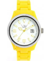 Buy LTD Watch Unisex White Dial Yellow Strap With Ss Bezel Watch online