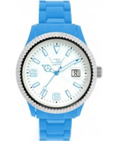 Buy LTD Watch Unisex White Dial And Blue Strap With Ss Bezel Watch online