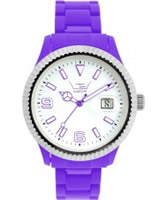 Buy LTD Watch Unisex White Dial And Purple Strap With Ss Bezel Watch online