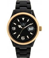 Buy LTD Watch Unisex Black Dial And Strap With Ipg Steel Bezel Watch online