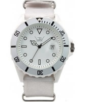 Buy LTD Watch Unisex White Dial And Canvas Strap Watch online