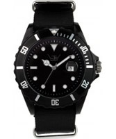 Buy LTD Watch Unisex Black Dial And Canvas Strap Watch online