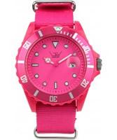 Buy LTD Watch Unisex Shocking Pink Dial And Canvas Strap Watch online