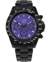 Buy LTD Watch Unisex Purple Dial And Black Strap Chronograph Watch online