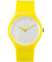 Buy LTD Watch Unisex Limited Edition White Dial Yellow Pu Strap Watch online