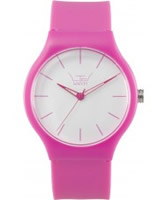 Buy LTD Watch Unisex Limited Edition White Dial And Pink Pu Strap Watch online