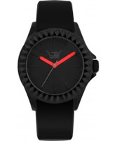 Buy LTD Watch Unisex Limited Edition Black Dial Red Hands Rubber Strap Watch online