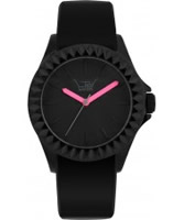 Buy LTD Watch Unisex Limited Edition Black Dial Shocking Pink Hands Rubber Strap Watch online