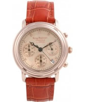 Buy Krug Baumen Principle Diamond Mens Rose Gold Chronograph Watch online