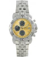 Buy Krug Baumen Sportsmaster Yellow Sports Chronograph Watch online