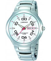 Buy J Springs Mens Urban Active White Steel Contemporary Watch online