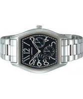 Buy J Springs Ladies Classic Retrograde Black Silver Watch online
