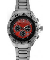 Buy Ballistic Mens Extreme Silver Red Chronograph Watch online