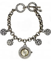 Buy Accessorize Ladies Stone Set Charm Bracelet Watch online