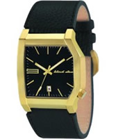 Buy Black Dice Mens EDGE Black Leather Watch online