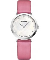 Buy Rodania Swiss Ladies Pink Elios Silk Watch online