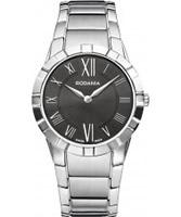 Buy Rodania Swiss Ladies Black and Silver Salina Watch online