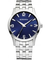 Buy Rodania Swiss Mens Blue and Silver S100 Watch online