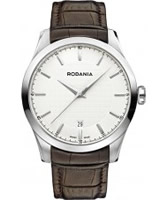 Buy Rodania Swiss Mens Silver and Brown Nolan Watch online