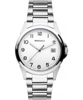 Buy Rodania Mens White and Silver Racine Watch online