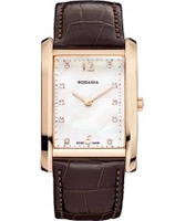 Buy Rodania Swiss Ladies Rose Gold and Brown Altra Watch online