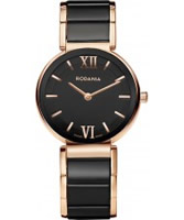 Buy Rodania Swiss Ladies Rose and Black VV1 Ceramic Watch online