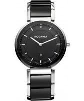 Buy Rodania Swiss Mens Black VV1 Ceramic Watch online