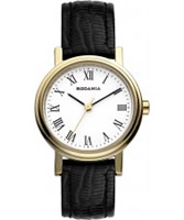 Buy Rodania Ladies Gold IP and Black Zola Watch online